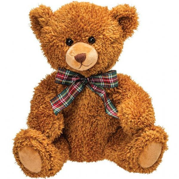 Emma, brown plush teddy bear. Suki gifts.